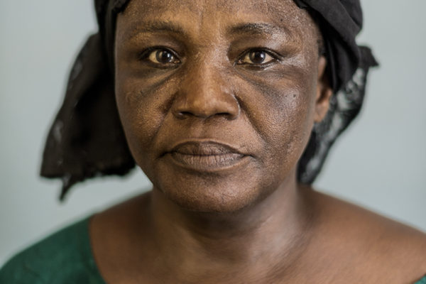 Victims Of Hissene Habré crimes.  Ginette Nganbaye.  Se actually is one of the leaders of the Asociation. She was arrested when she was pregnant and gave birth in prison. She was tortured with electricity.
