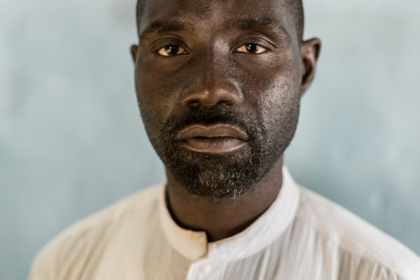 Victims Of Hissene Habré crimes.  Abakar Gambala,  They killed his father when he was 15 years old. The day Hissene Habré regimes fell he went to all the prisons to look for him.