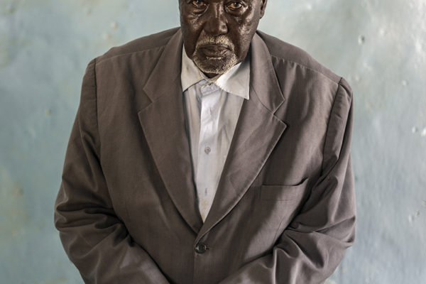 Victims Of Hissene Habré crimes.  Jonás Siptene Gambang, Protestant minister, his cousin was rebellious and arrested him. They left half deaf from the blows and had to do forced labor.