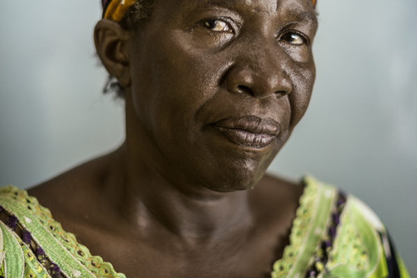 Victims Of Hissene Habré crimes.Rahama Ajinguembaye.She was pregnant when she was put in jail her son was born in prison, she was forced to do hard labor.
