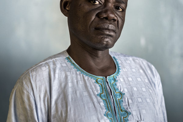 """Victims Of Hissene Habré crimes.  Clement Abaifouta.  """".President of the Association of Victims. Four years in prison, was one of those chosen to bury the bodies. """"With my own hands I will have buried a thousand people."""""""