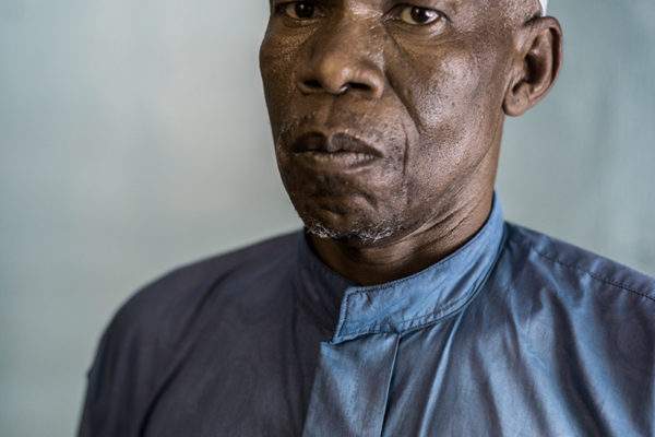 Victims Of Hissene Habré crimes.  Ousmane Mahamat Saleh. he was forced to swallow water and walked on the stomach. He was imprisoned in the pool two days, they slept standing.