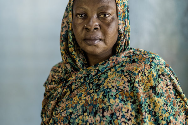 Victims Of Hissene Habré crimes.  Bassou Zenouba Ngolo, widow, her husband was a journalist and was arrested as a rebel, He asked for freedom in their country. He now works for the government and is councilor in N'Djamena.