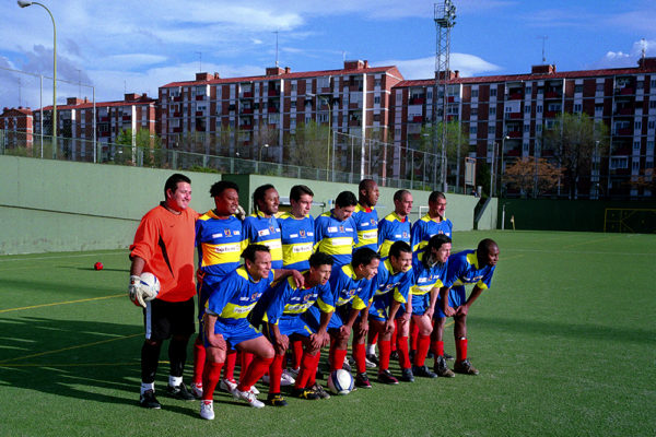 SPAIN.MADRID (02/2006) Ecuatorian football team. Sporting Madrid Ecuator