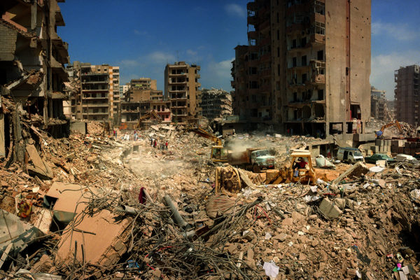 Lebanum Haret Hreik, buburb of Beirut. After the bombing July 2006. by israelian airplanes. This is the place where the headquarters of Hezbolah were placed. It is neighbourhood of Chií majority.