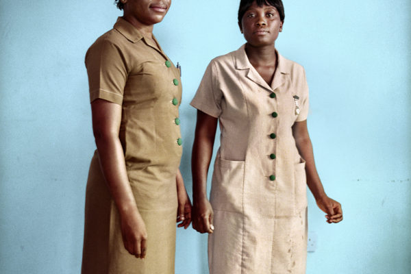 two nurses in Dodowa area. Gifty and Salome. working in the vaccination program held by GAVI ALLIANCE