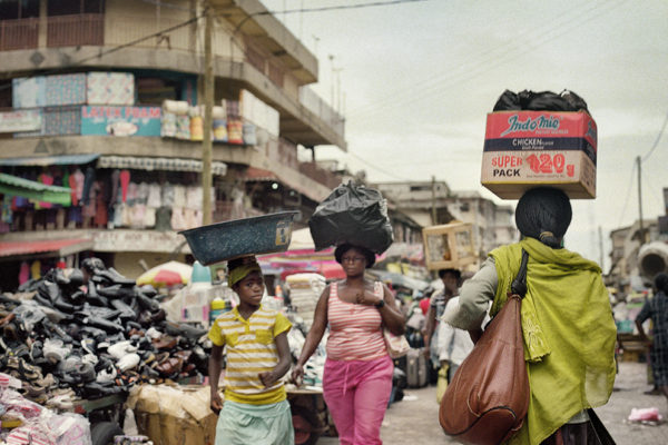 Accra main market in downtown