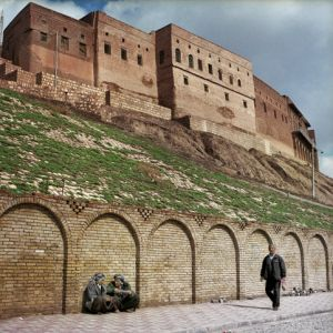 The citadel of erbil is a mountain or tell or occupied mountain, rising from 25 to 32 meters high