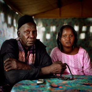 Umm Fall and her father, Rosso. Senegal.